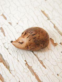 PREORDER Little Hedgehog bead  Sleepy Woodland by TreeWingsStudio, $8.00