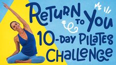 In this Pilates challenge, Meredith Rogers will guide you through meditat. - In this Pilates challenge, Meredith Rogers will guide you through meditation in motion so yo - Pilates Challenge, 10 Day Challenge, Pilates Video, Pilates For Beginners, Pilates Reformer Exercises, Pilates Workout, Core Workouts, Tabata, Yoga Videos