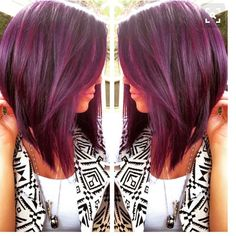 "39 Likes, 11 Comments - Joanne (@joannemarie86) on Instagram: ""Need this hair style in my life 😍 #hair #hairstyle #graduatedbob #plum #plumhair #loveit #wantit…"""