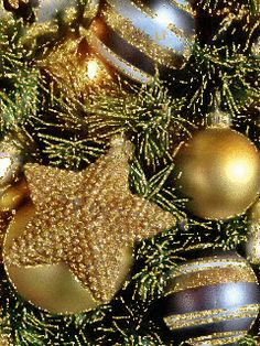 GIFS HERMOSOS: cosas navideñas encontradas en la web Animated Christmas Tree, Christmas Art, Christmas And New Year, Christmas Bulbs, Gifs, Nouvel An, Winter, Invitations, Carpe Diem
