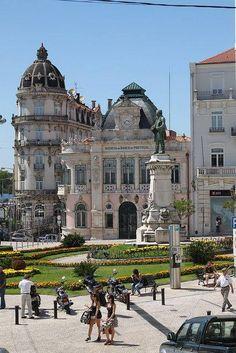 Coimbra - Astoria Hotel and Bank of Portugal Agency Portugal Travel, Spain And Portugal, Spain Travel, Places Around The World, Travel Around The World, Around The Worlds, Places To Travel, Places To See, Portuguese Culture