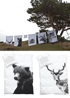 nordic style duvet covers by the style files, via Flickr