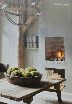 Landelijke sfeer #fireplace #interior #cozy