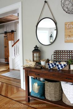 Victorian fixer upper farmhouse fall house tour - timeless fall decorating inspiration!