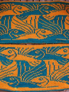 Ravelry: Project Gallery for Tiling Flying Fish (double knitting) pattern by Jana Huck