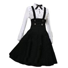 Amazon.com: Partiss Women Long Sleeves With Bowknot Classic Lolita Fancy Dress: Clothing