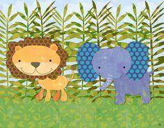 Jungle Friends I Canvas Art