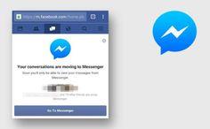 Facebook web para móvil dejará de tener Messenger