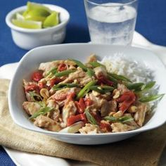 Peanut butter melds with classic Asian flavors to lend this one-dish meal a Thai flair. Lime makes a perfect accent.