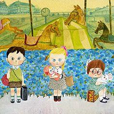 Amazon.co.jp: マリーニ*モンティーニ 「Waiting for a train」 インクジェットプリント・直筆サイン入: ホーム&キッチン