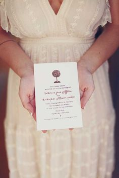 invitation wording. also, look how cute her dress is!