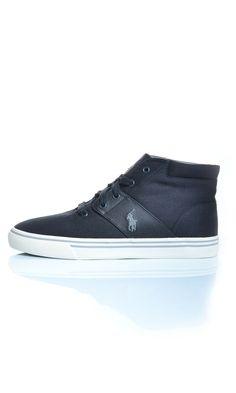 Scarpe Polo Ralph Lauren HENDERSON NE Sneakers Alte - Grigio - Scarpe Uomo - A85-Y2044 - Dursoboutique.com