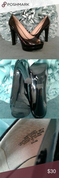 "BN Nine West patent leather heels Women's beautiful brand new nine west peep toe patent leather heels size 5 1/2. 5"" heel, 1"" platform on toe. Thanks for looking!! Bundle to save!! Nine West Shoes Heels"