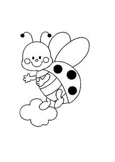 Monique Melo uploaded this image to 'riscos'. See the album on Photobucket. Bunny Coloring Pages, Fish Coloring Page, Preschool Coloring Pages, Coloring Book Pages, Girls Quilts, Baby Quilts, Painted Pumpkins, Painted Rocks, Watercolor Paintings For Beginners