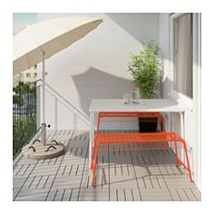 IKEA - VÄSTERÖN, Bench, in/outdoor, , The bench is durable and easy to care for, as it is made of powder-coated steel.Can also be used in bathrooms and other damp areas indoors.The materials in this outdoor furniture require no maintenance.