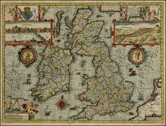 The Kingdome of Great Britaine and Ireland - Barry Lawrence Ruderman Antique Maps Inc.