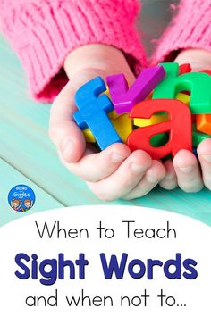 Should you teach sight words to preschoolers? When are children ready to learn sight words? This quick overview for parents and caregivers will help you understand what you should be teaching when.