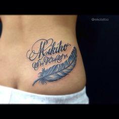 #letters #feather #tattoo #reikotattoo