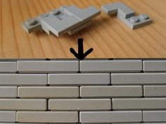 Build pairs of a corner plate and tile like shown in the top area and put them on top of each other. The result is a cool brick pattern. This is a quite funny technique that makes use of the relatively new corner tiles. Indead: this pattern is only possilble with those spezific tiles. I hope you like it!
