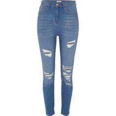 Washed ripped skinny jeans ❤ #highwaist #streetwear