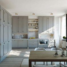 Zweeds appartement ingericht met natuurlijke kleuren en materialen