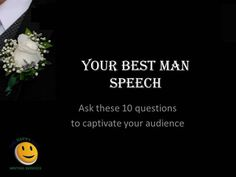 A blueprint for the perfect Best Man Speech, based on the 10 questions that THGM Writing Services asks its clients before writing their Best Man Speeches. Wedding Speech Quotes, Best Man Wedding Speeches, Best Speeches, Groom's Speech, Best Man Speech, Best Man Quotes, Wedding Toast Samples, Maid Of Honor Speech