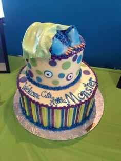 Monster Inc Baby Shower Cake