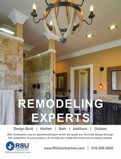 #remodelMiddleTennessee #remodelingcontractors #bathroomremodel   This is one of our bathroom remodel projects.  Let RSU Contractors help you in your next remodeling project.  http://www.rsucontractors.com