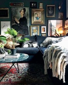 Masculine living rooms to pin right now! Masculine living rooms to pin right now! Masculine Living Rooms, Dark Living Rooms, My Living Room, Living Room Decor, Dark Rooms, Eclectic Living Room, Modern Living, Green Living Room Walls, Room Decor Boho