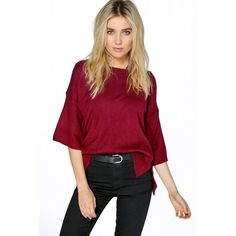 Boohoo Amber Oversized Soft Knit Jumper ($16) ❤ liked on Polyvore featuring tops, sweaters, wine, oversized knit sweaters, knit sweater, chunky sweater, chunky knit sweater and red turtleneck