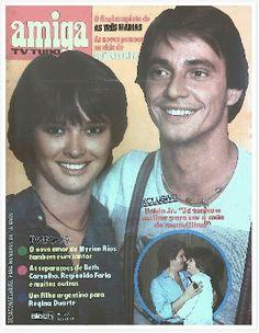 REVISTA AMIGA - 1981 - na capa os atores FABIO JUNIOR e MIRIAM RIOS - do elenco da novela O AMOR É NOSSO - realiação da Rede Globo
