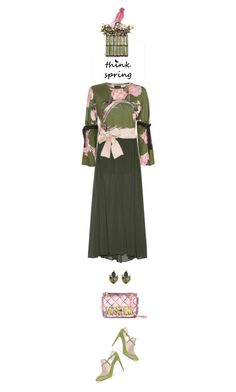 """think spring"" by collagette ❤ liked on Polyvore featuring Topshop, Enza Costa, Danya B, Valentino and Moschino"