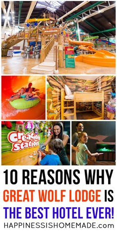 """Discover 10 reasons why our family considers Great Wolf Lodge to be """"The Best Hotel EVER!"""" (Hint: it involves water slides, a magician's quest, dance parties, plush pets, and SO much more!)"""
