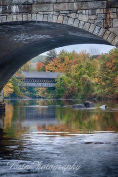 Henniker covered bridge No. 63, New England College | Vista Photography