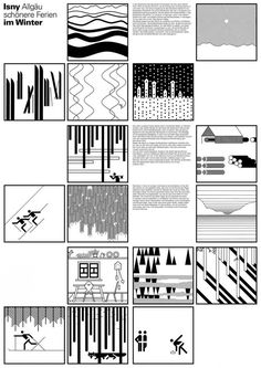 Landscape Pictograms by Otl Aicher