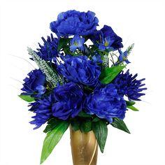 Dark Blue Rose & Peony Mix