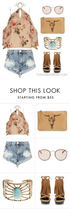 """""""Festival Lool #2"""" by dnicoleg ❤ liked on Polyvore featuring Exclusive for Intermix, alola, One Teaspoon, Ray-Ban, Lucky Brand and Burberry"""