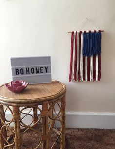 ≫ American Flag Yarn Wall Hanging *FREE US SHIPPING*  🇺🇸 *4th of July Sale!* originally $40 🇺🇸 Add a simple patriotic touch to any room with this handmade American Fall wall hanging 🇺🇸 Each one is cut and strung by hand on a stained dowel using a blend of wool and alpaca fibers for an extra soft feel 🇺🇸 Can be hung on a nail or tac from the attached twine  Measurements: ≫ Yarn hangs about 18 long (not including twine) ≫ Attached twine adds 3 to length but it is adjustable to your…