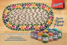 Hoje tem Flor !!!: Tapete em crochê com gráfico
