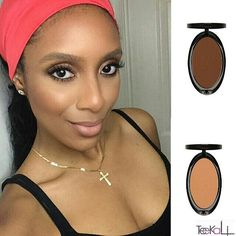 @stylemyface feauturing the @imancosmetics Luxury Pressed Powder in ' Clay Medium ' and Earth Dark ( to contour)  #teeka4