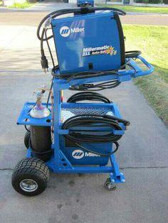 Miller blue cart