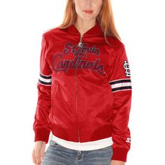 Women s Philadelphia 76ers Starter Red Blitz Satin Full Zip Jacket Satin  Jackets 0f16cf21d
