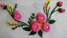 Embroidery For Beginners Hand Embroidery: Ring Bullion Knot Stitch - Hand Embroidery Projects, Basic Embroidery Stitches, Hand Embroidery Videos, Hand Embroidery Flowers, Hand Embroidery Tutorial, Learn Embroidery, Crewel Embroidery, Hand Embroidery Patterns, Embroidery Techniques