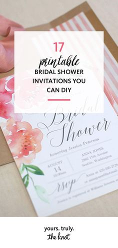 Select from these instant downloads for a quick and easy bridal shower fete with personalized detailing.