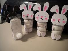 Powdered Sugar Donut Bunnies - made these last year for Easter baskets, they were super easy, and turned out great