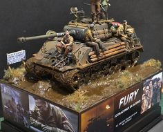 """Pick up the K&C """"FURY"""" tank at http://www.treefrogtreasures.com/p-19999-fury-m4a3e8-easy-eight.aspx Figures also available!"""