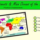 Help your students learn the main Continents and Oceans of the world!This is a great way to assess your students quickly. A pre-assessment and two final assessment versions are included. 4th Grade Social Studies, Social Studies Resources, Teaching Resources, Continents And Countries, Continents And Oceans, Student Learning, Math Education, Ocean Unit, Map Skills