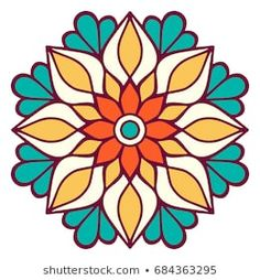Discover recipes, home ideas, style inspiration and other ideas to try. Stained Glass Patterns, Mosaic Patterns, Flower Patterns, Embroidery Patterns, Mandala Drawing, Mandala Painting, Dot Painting, Mandala Book, Motif Oriental