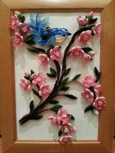 Cherry tree branch (Quilling)