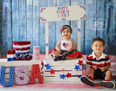 Fourth of July Photography. Kid photography. Fourth of July